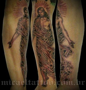 Jesus Christ Forearm Tattoo