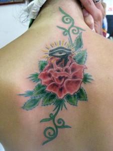 rose and Horus Tattoo