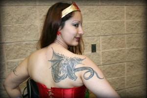 The wonder woman with the dragon tattoo