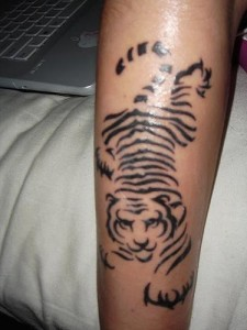 Tribal White Tiger Tattoo