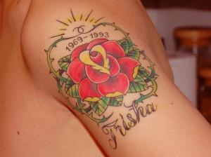 RIP memorial tattoo