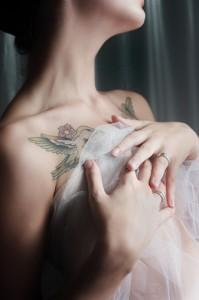 Love Birds Collar Bone Tattoo
