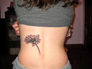 Bold Daisy Tattoo