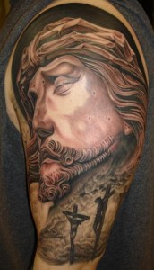 Detailed Jesus Tattoo