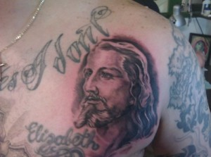 Jesus Tattoo for the Back