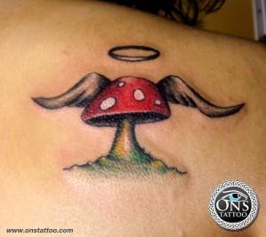 Angel Mushroom Tattoo