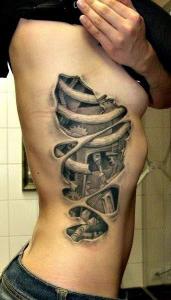 Literal ribcage tattoo