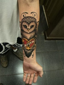 Owl Forearm Tattoo