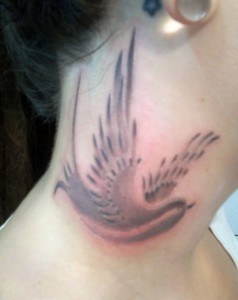 Bird Neck Tattoo