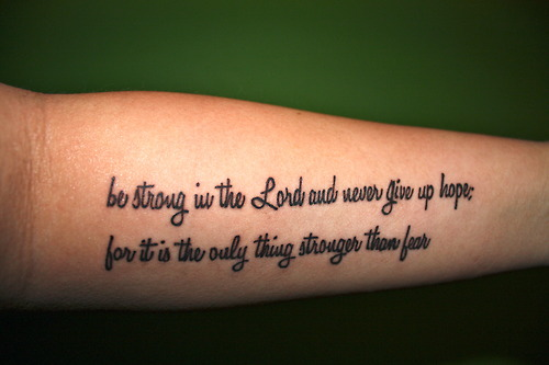 Forearm Tattoo Words