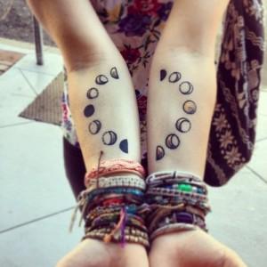Moon Design Forearm Tattos