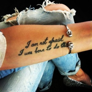 Quotes Forearm Tattoo