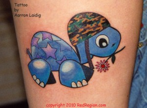 Blue Turtle Tattoo