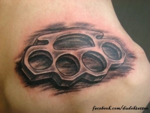 Brass Knuckles Tattoo