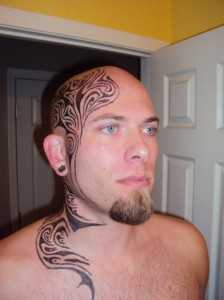 Tribal head Tattoo