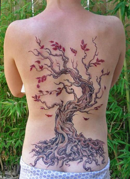 15 stunning tree tattoos you 39 ll love these. Black Bedroom Furniture Sets. Home Design Ideas