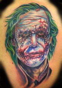 Gruesome man tattoo