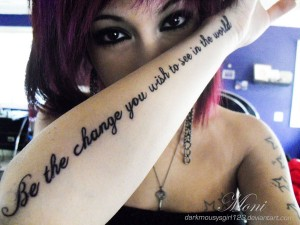 Gandhi Inspirational Quote Tattoos