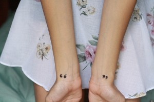 Quotation mark Wrist Tattoos