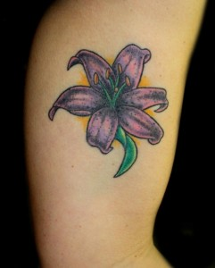 Purple Lily Tattoo