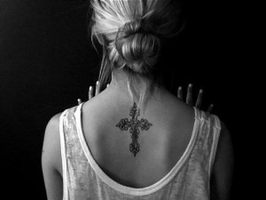 Fancy Knot Cross Tattoo