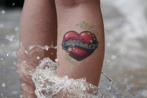 Heart with Music Tattoo