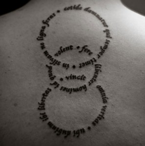 Circular Quote Tattoos