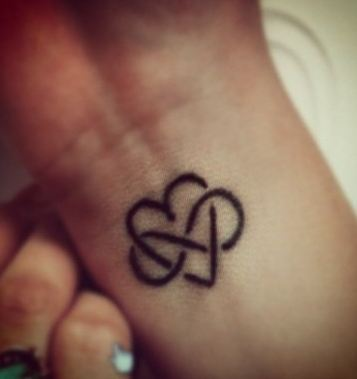 Heart Infinity Tattoo On Wrist