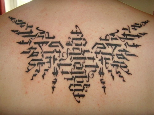 Text Design Tattoos For Men