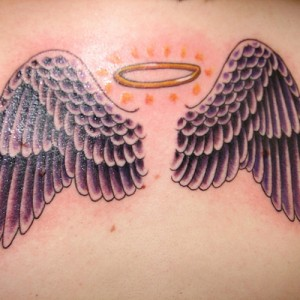 Wings and Halo Tattoo