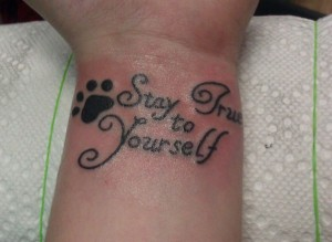 Stay True Quote Tattoos