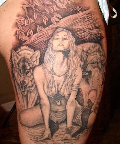 Seductive Woman Tattoos for men