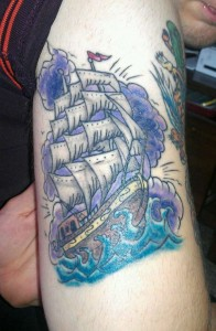 Sail Boat Tattoos for men