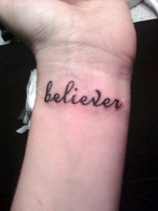 Awesome lettering Wrist Tattoos