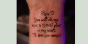Memory Wrist Tattoo
