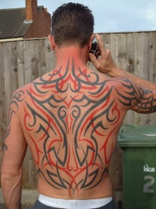 Tribal Tribal Tattoos for men with Color