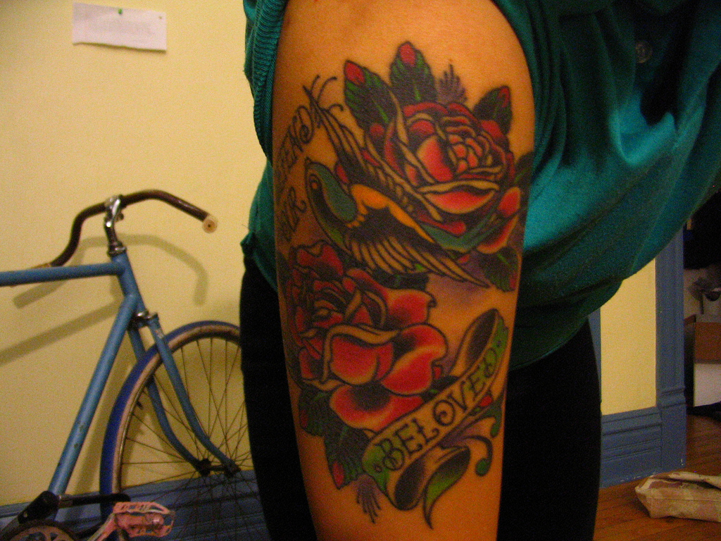 Rose With Banner Tattoos: Stunning Rose Designs & Ideas
