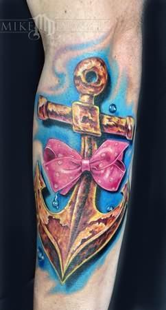 anchor tattoo on forearm