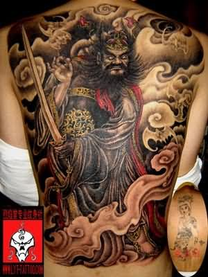 chinese tattoo on back
