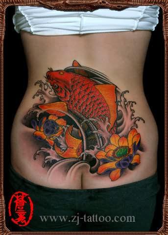 chinese tattoo lower back