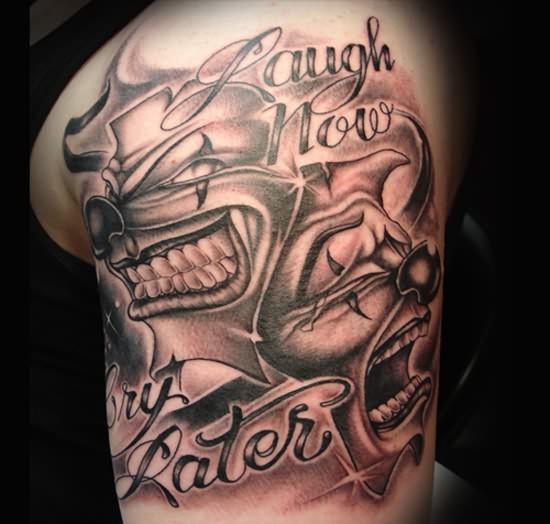 15 weird but stunning clown tattoos tattoo me now. Black Bedroom Furniture Sets. Home Design Ideas