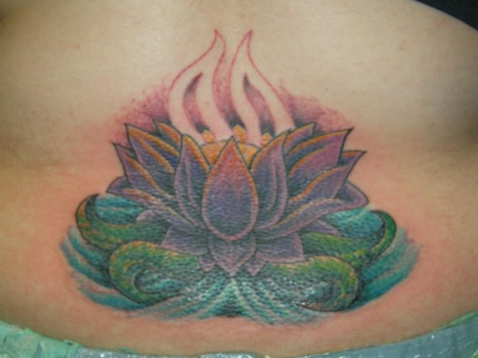 flower tattoo on back