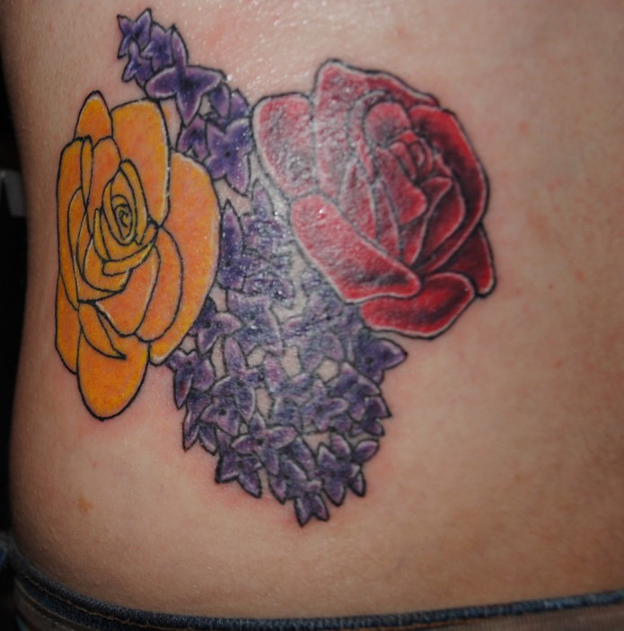 44 stunning flower tattoos youll love these red and yellow rose tattoo mightylinksfo