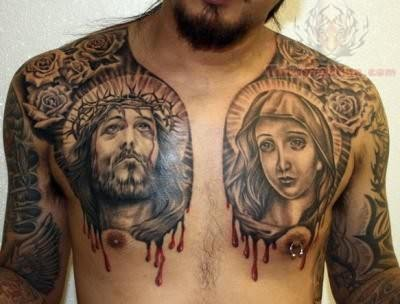 jesus and maria tattoos