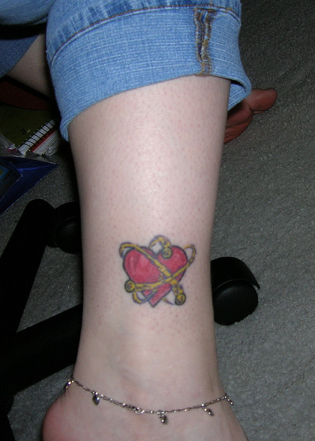 Atomic heart tattoo images for Nerd tattoo designs