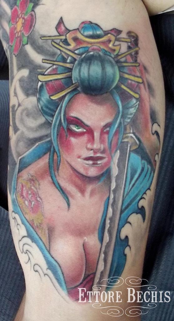 Tons of mystical japanese tattoos tattoo me now for Female samurai tattoo