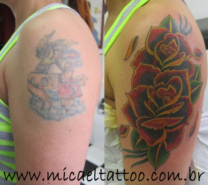 23 awe inspiring rose tattoos tattoo me now. Black Bedroom Furniture Sets. Home Design Ideas