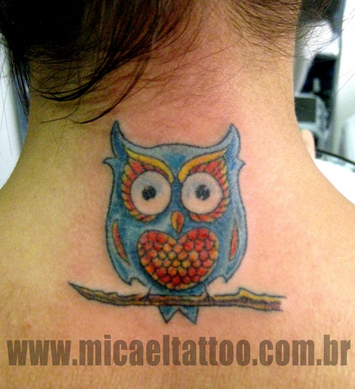 15 outstanding owl tattoos tattoo me now. Black Bedroom Furniture Sets. Home Design Ideas