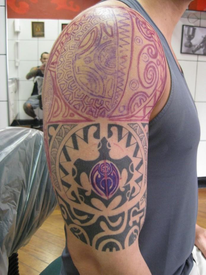 maori tattoo on arm