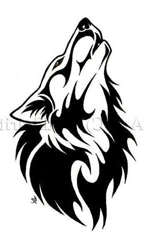 Simple Tribal Wolf Tattoo - Interior Home Design